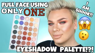 Full Face Using ONLY ONE Eyeshadow Palette Challenge!!!
