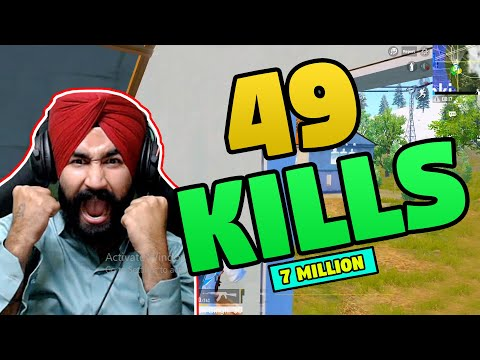 49 KILLS || PUBG MOBILE || AWM & M416 SKILLS