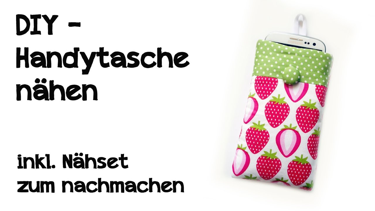 diy handytasche n hen inkl n hset zum nachmachen youtube. Black Bedroom Furniture Sets. Home Design Ideas