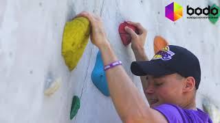 Урок альпинизма на скалодроме для двоих