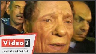 بالفيديو.. عادل إمام فى عزاء سعيد صالح: