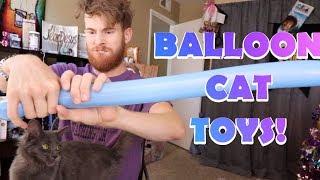 MAKING MY CAT BALLOON TOYS!