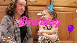 🎂 4 YEAR OLD BIRTHDAY TAG | Vlogtober Day 19