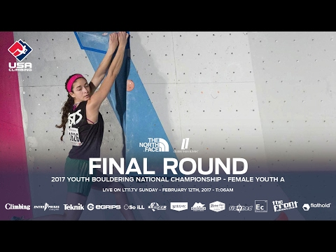 Female Youth A • Finals • 2017 Youth Bouldering Nationals • 2/12/17 11:06 AM