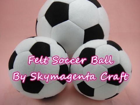 Felt Craft Tutorial - Soccer Ball