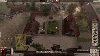 Men of War Assault Squad 2 MP gameplay #108: 2v3 Muddy Farmland