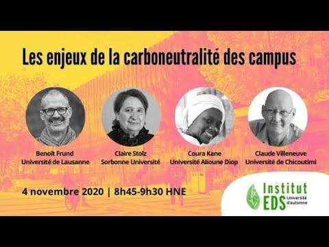 Les enjeux de la carboneutralité des campus | Université d'automne 2020 de l'Institut EDS