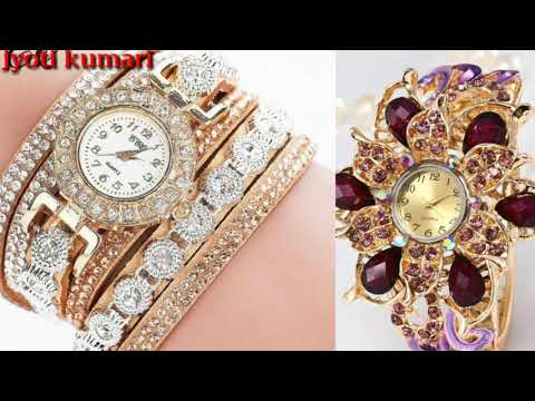 Top Stylish Beautiful Girls Bracelet Diamond Watch Designs Collection 2019