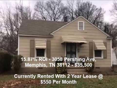 15.87% ROI – Pershing Ave, Memphis, TN 38112 - $35,500