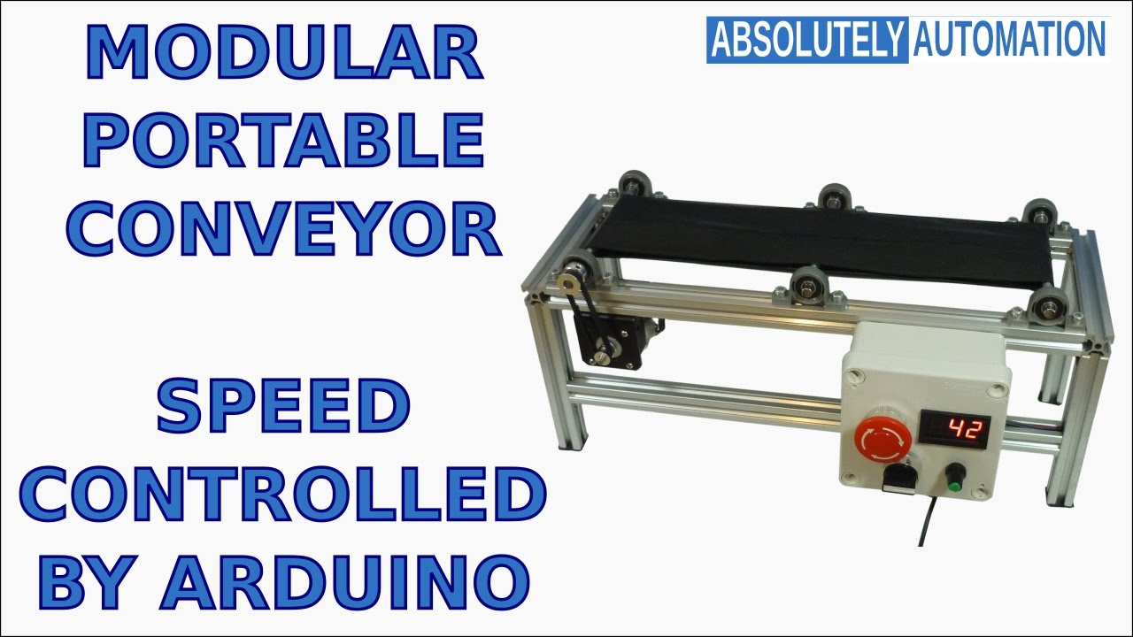 MODULAR PORTABLE CONVEYOR BELT SPEED CONTROLLED BY ARDUINO