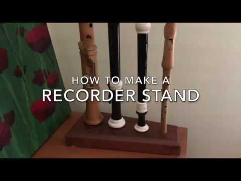 How to make a Recorder Stand that's portable