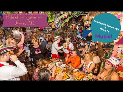 Kolumbijskie klimaty w Miami (Pueblito Viejo) Columbian Restaurant música de Colombia