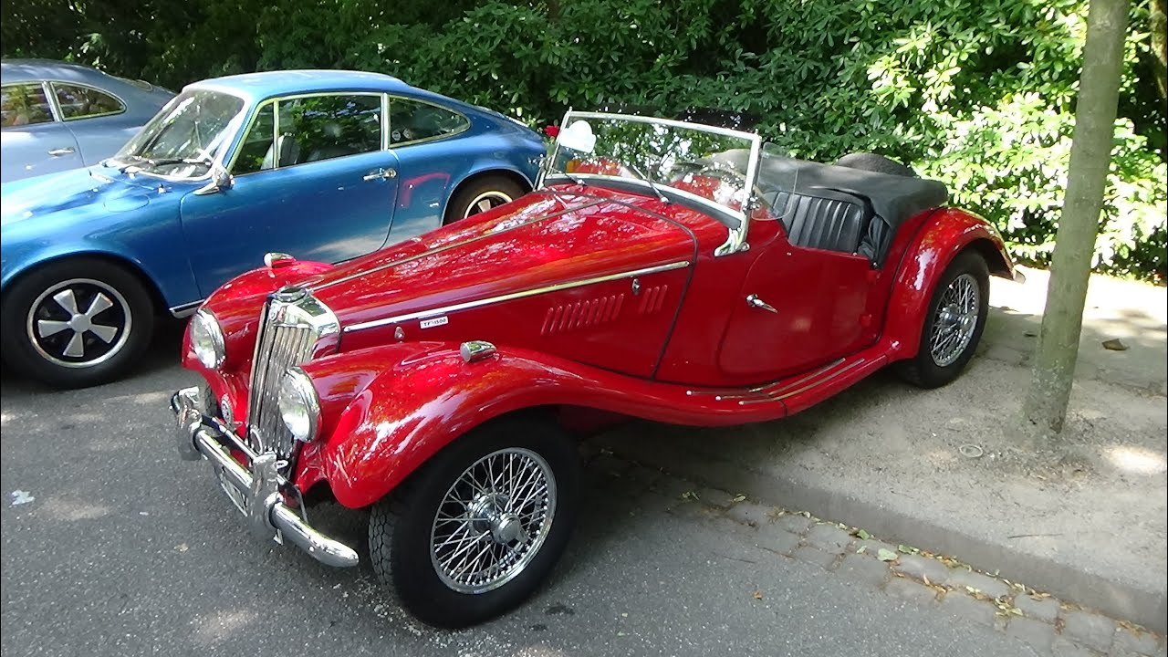 1954 MG TF 1500 Exterior and Interior Oldtimer Meeting Baden
