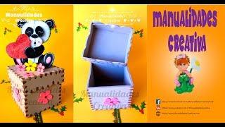 Cajita fácil paso a paso - Craft DIY manualidad amor y San Valentin en foamy/goma eva/microporoso