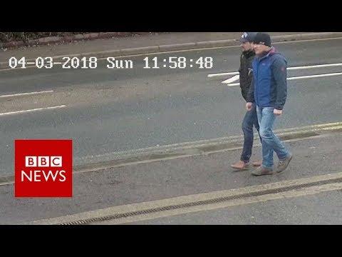 The Skripal suspects' walk through Salisbury - BBC News