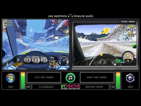 Need For Speed: Porsche Unleashed (PC Vs GBA) Side By Side Comparison (Game Boy Player) VCDECIDE