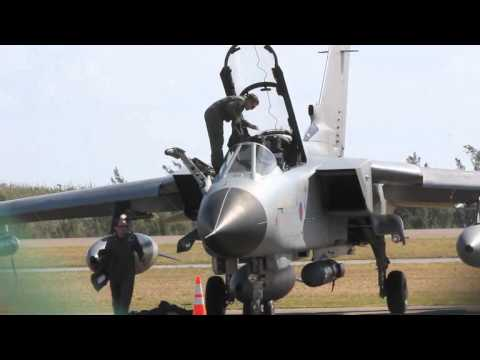 Royal Air Force Jets Stop In Bermuda February 16 2012