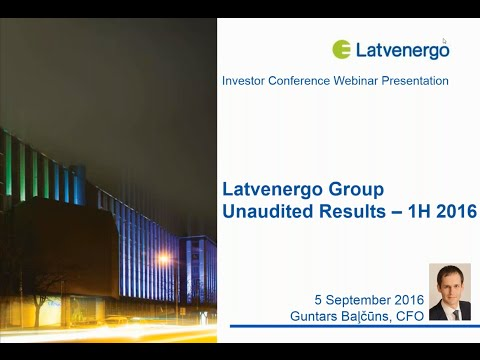 Latvenergo financial results of 6 months 2016