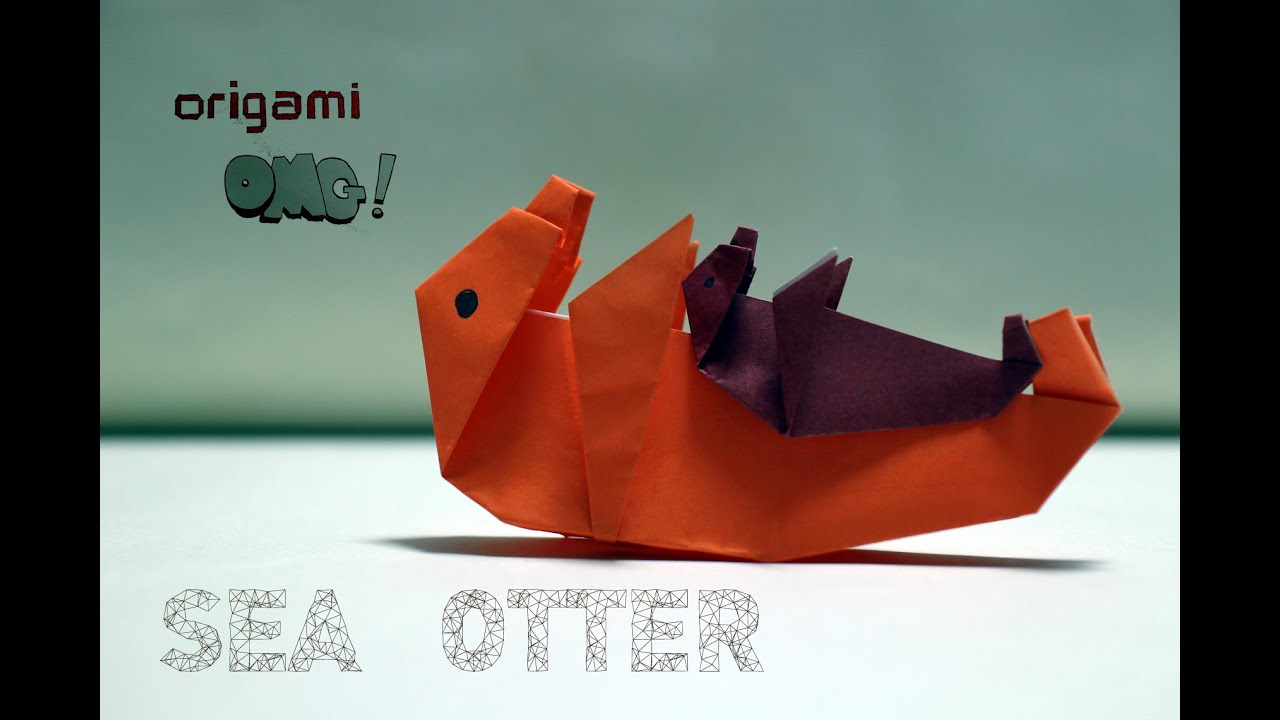 Omg easy but cool origami sea otter easy but cool origami sea otter jeuxipadfo Choice Image