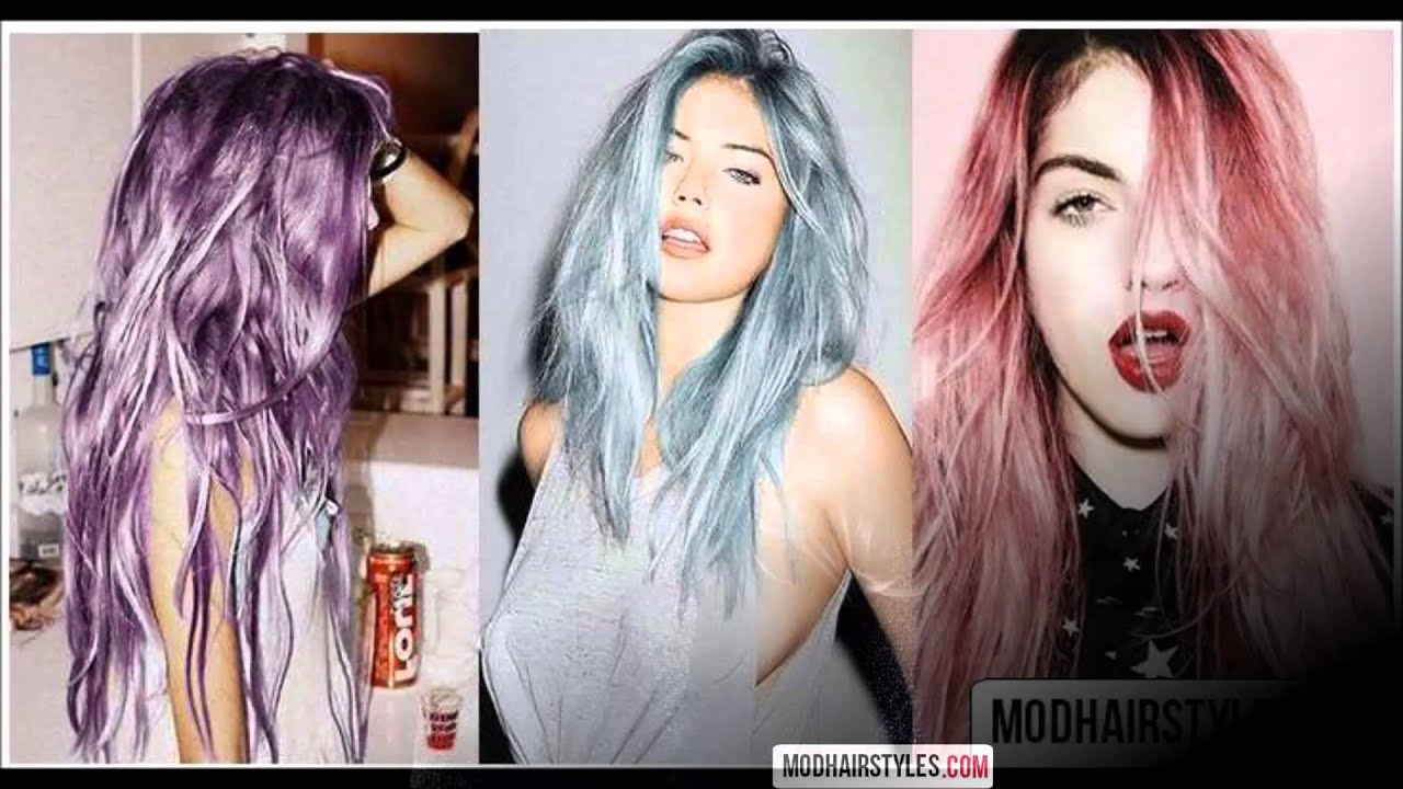 2016 hair color trends (candy unicorn,gray and metallic hair ...