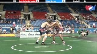 Fargo 2012 220 Round 5: Juan Karlos Hernandez (Oregon) vs. Brian Moran (Michigan)