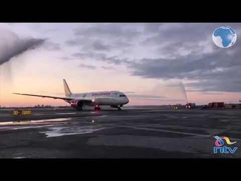 KQ's Boeing 787-8 finally lands in New York after 15 hours of direct flight