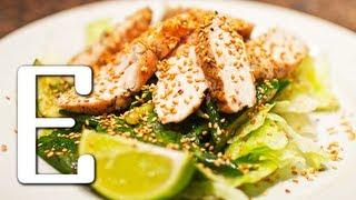Пряный салат с курицей — рецепт Едим ТВ