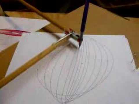 Harmonograph automatic drawing machine