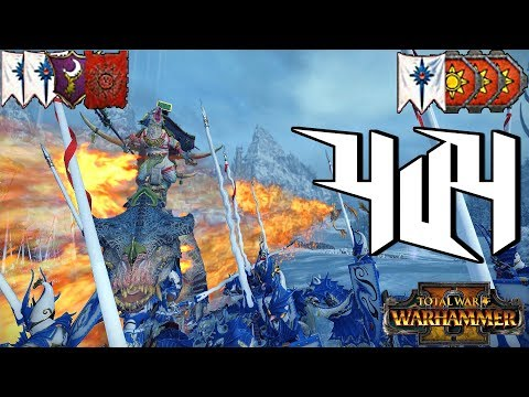 --WINTER ROYALE-- Warhammer II Total War 4v4 Multiplayer Battle