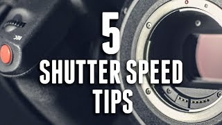 5 SHUTTER SPEED TIPS for VIDEO thumbnail
