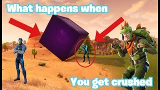 Fortnite | **NEW** FORTNITE CUBE! WHAT HAPPENS WHE YOU GET CRUSHED? **FUNNY**