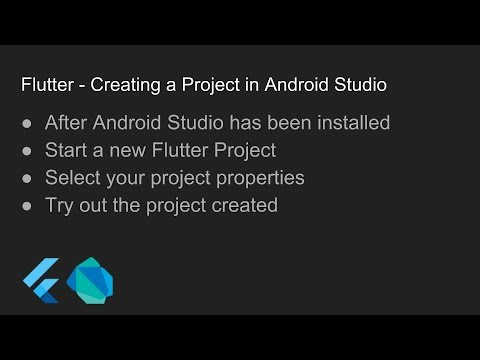 Flutter - Creating a Project in Android Studio
