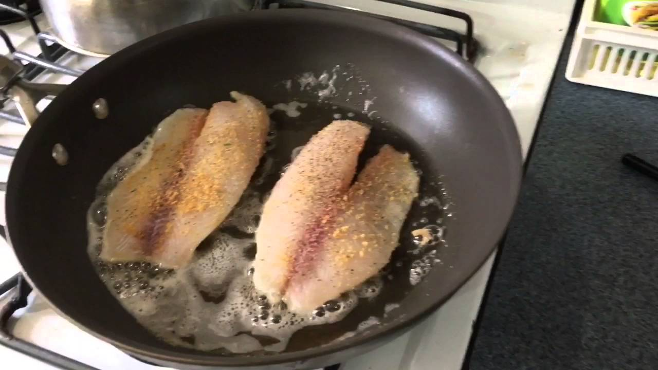 Pan Fried Tilapia Fillet Youtube