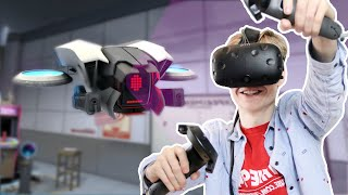 FLYING A DRONE IN VIRTUAL REALITY! | The Lab VR (HTC Vive Gameplay)