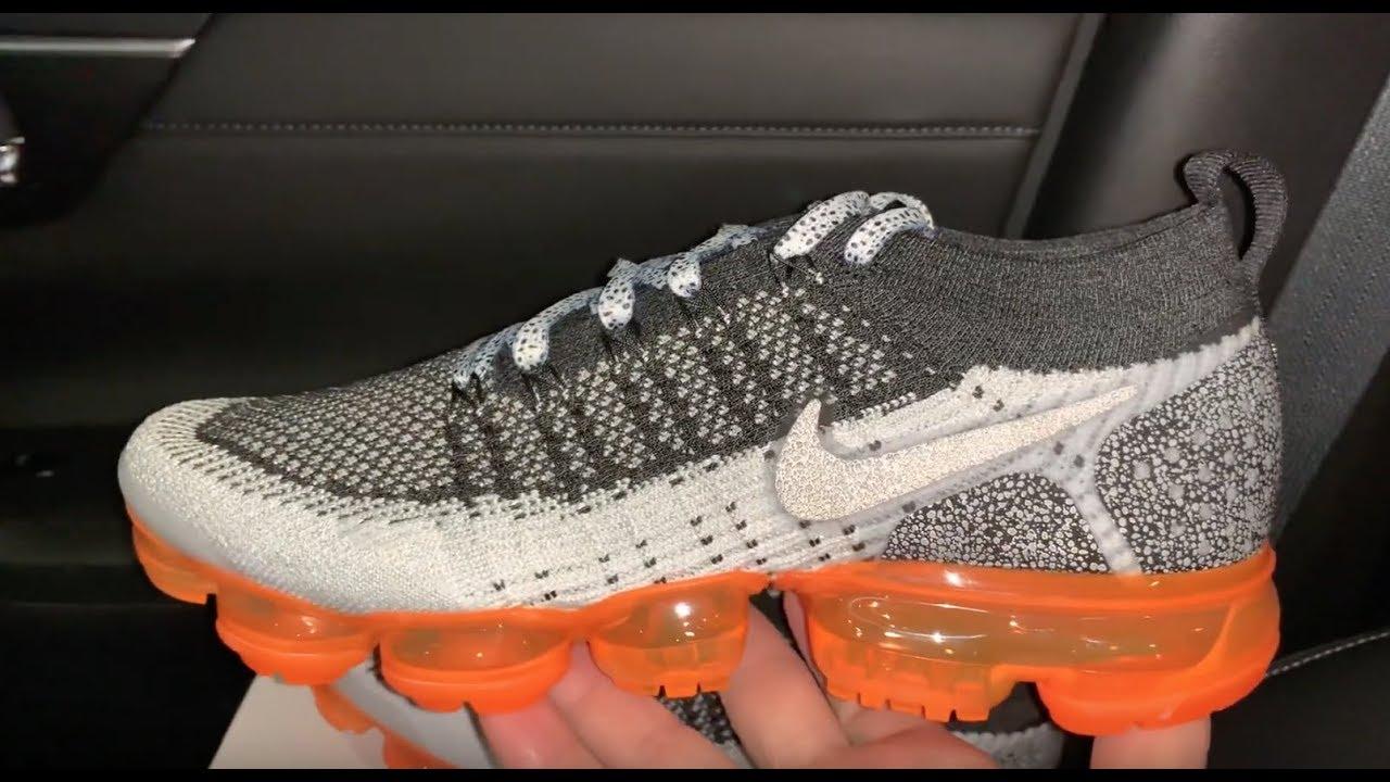 ace7273649513 Nike Air VaporMax 2.0 Mango Safari sneaker - YouTube