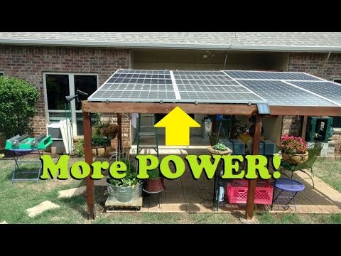 Upgraded: backyard solar panel pergola now with 1,000 watts