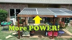 Upgraded: backyard solar panel pergola now with 1,000 watts