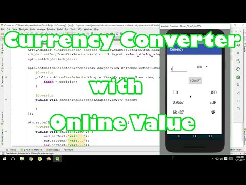 Currency converter with online currency value in android by Moqueet Wahedi
