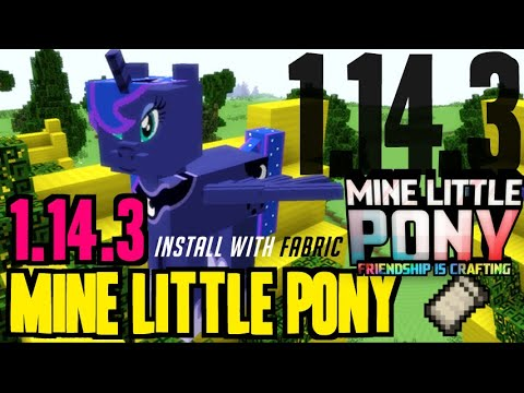 MINE LITTLE PONY MOD 1.14.3 Minecraft - How To Download & Install MineLittlePony 1.14.3