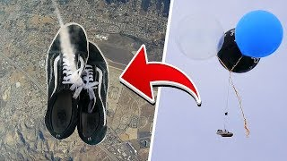 I Dropped VANS From 50,000 Feet And You Won't Believe What Happened!! *Vans Flipping Challenge*