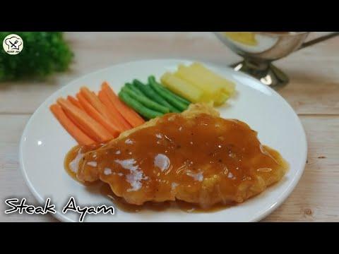 Cara Membuat Steak Ayam Ala Restoran Enak Crispy Dengan Saus Lada Hitam Istimewa