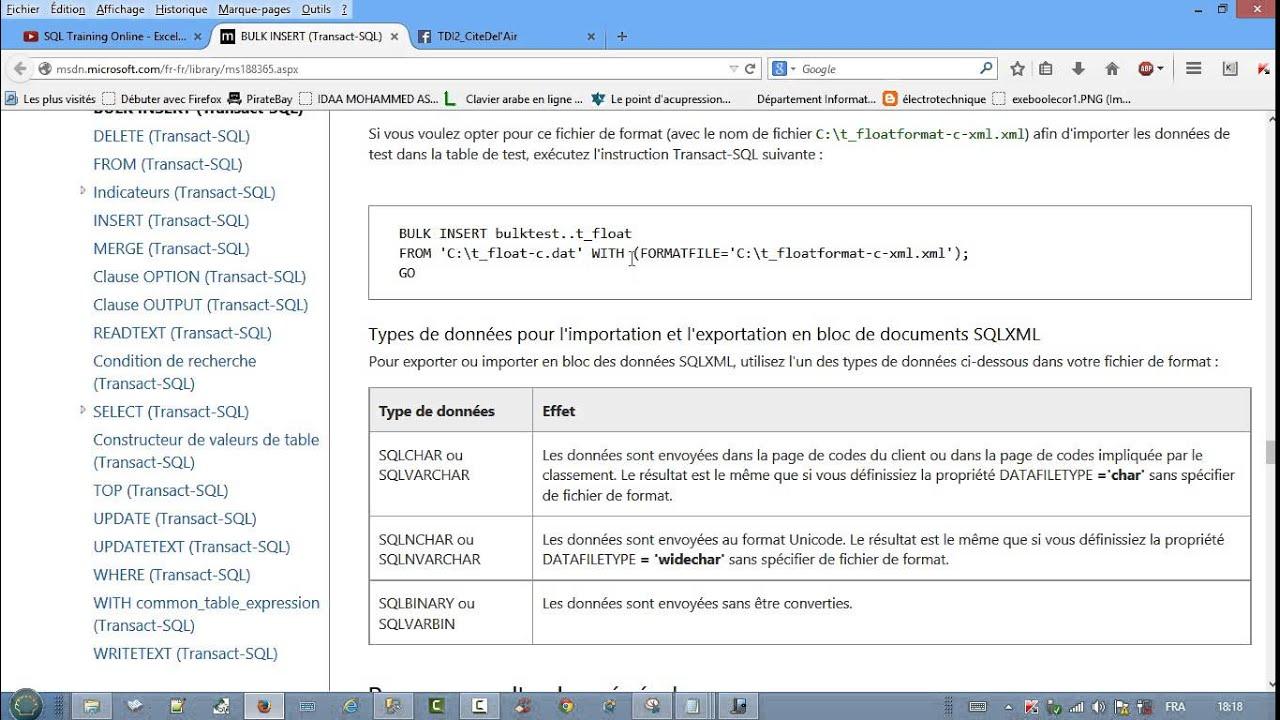 BULK INSERT : Import de données d'un fichier texte Vers SQLServer 2012  (Partie 1)