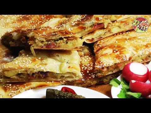 Фритатта с беконом и сыром