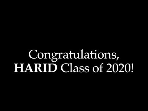 In Celebration of The HARID Conservatory's Class of 2020