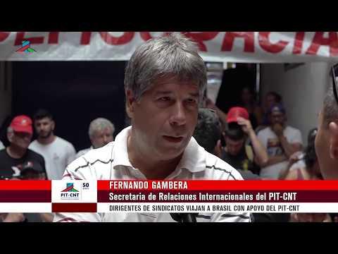 PIT-CNT Dirigentes de Sindicatos viajan a Brasil con el apoyo del PIT-CNT