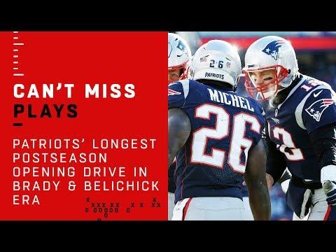 Patriots Cap Off Longest Postseason Opening Drive in Brady & Belichick Era w/ TD