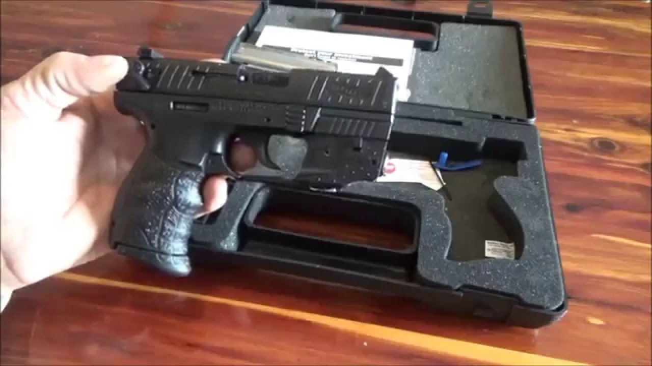Walther P22 Pistol With Laser