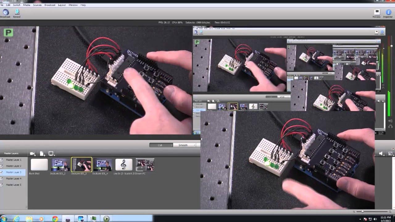DIY Hardware Switcher for Wirecast and Xsplit - Wirecast Demo - PC ...