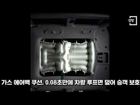 [경향신문] 현대모비스가 세계 첫 개발한 '파노라마 선루프 에어백' 작동 순간보니···