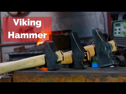 Viking Hammers! Making A Wrought Iron And Spring Steel Hammer Just Like The Vikings!